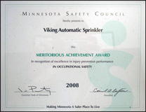 MN Safety Council Award