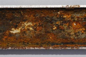 Water Testing MIC - Cross Section of a Corroded Pipe